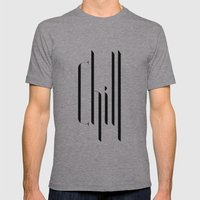 chill Mens Fitted Tee Athletic Grey SMALL