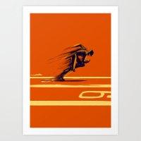 Athlethic's Run Art Print