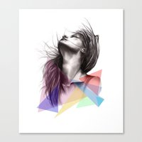 Crystalised // Fashion I… Canvas Print