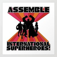 International Superheroes Art Print