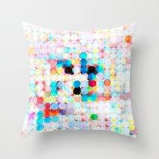 dot transparency Throw Pillow