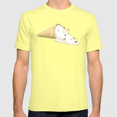 Ant Ski Mens Fitted Tee SMALL Lemon