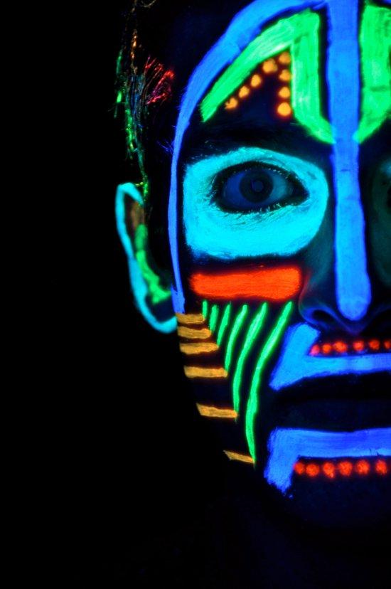 Colorful Neon Paint Under Blacklight Art Print