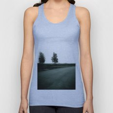 Blurry Trees Unisex Tank Top