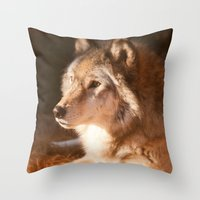Wolf Beauty Throw Pillow