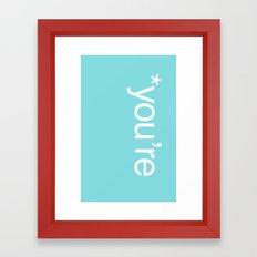 Correction Framed Art Print