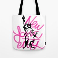 New York City Pink Neon Tote Bag