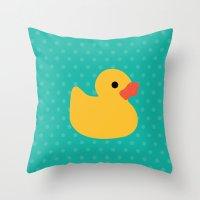 Duck It ! Throw Pillow