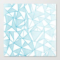 Abstraction Lines Watercolour Canvas Print