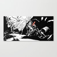 Interstellar Kegger Raid Canvas Print