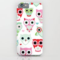 Powder pastel owl pattern print iPhone 6 Slim Case