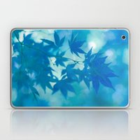 Teal Blue Japanese Maple Laptop & iPad Skin