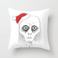 Tired Santa Throw Pillow