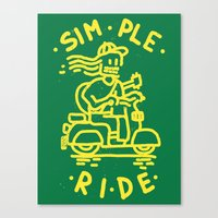 Simple Ride Canvas Print