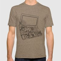 Laptop Surroundings Mens Fitted Tee Tri-Coffee SMALL