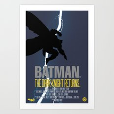 Bat Knight Returns Art Print