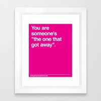 One that Got Away Framed Art Print