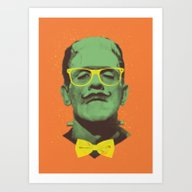 Art Print featuring Mr Frank by Victor Vercesi