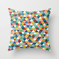 Triangles of Colour Throw Pillow