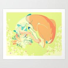 Deertaur - Green Art Print