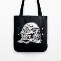 Skullflower Black and White  Tote Bag