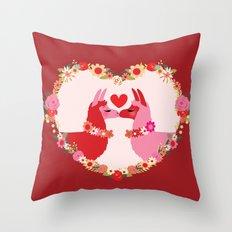 Llama lovin Throw Pillow