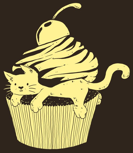 CupCat or CuteCake? Art Print