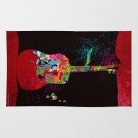 Graphic Guitar Rug