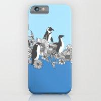 Flowers & Penguins iPhone 6 Slim Case