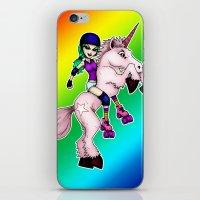 Roller Derby Unicorn iPhone & iPod Skin