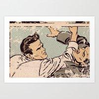 Pop Fight Art Print