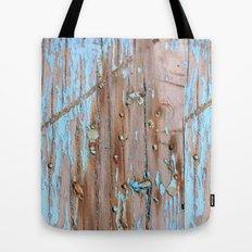 Turquoise Beach Wood II Tote Bag