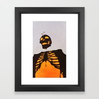 toxic love Framed Art Print