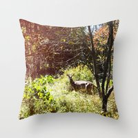 Autumn Deer. Throw Pillow