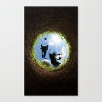 Hole in one Arnold! Canvas Print