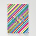 Color Stripes Stationery Cards