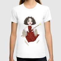 Winged Queen Womens Fitted Tee White SMALL