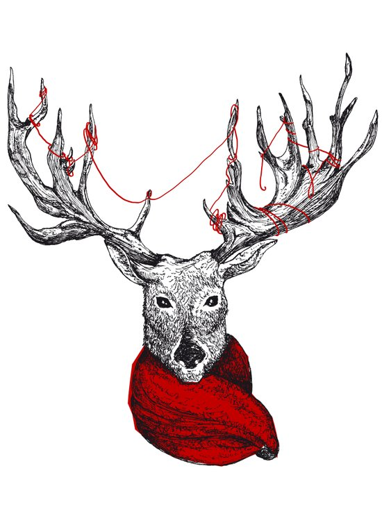 Cerf Art Print