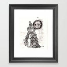 The Other Side (Black and White) Framed Art Print