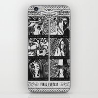 Final Fantasy Job Geek Art Poster iPhone & iPod Skin