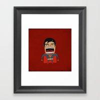 Screaming Superdude Framed Art Print