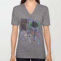 Journeying Spirit (wolf) Unisex V-Neck