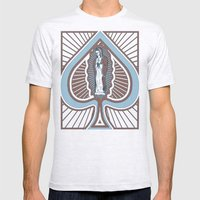 Our Lady of Spades Mens Fitted Tee Ash Grey SMALL