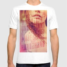 Hand in my Hand White SMALL Mens Fitted Tee