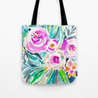 Pink Abundance Floral Tote Bag