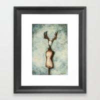 DressForm Deer #3 Framed Art Print