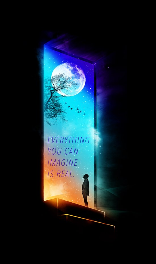 Everything you can imagine is real. Art Print
