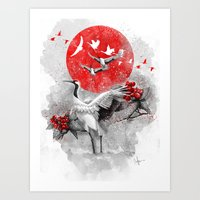 Tsuru Art Print
