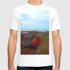 PEI Shoreline in Point Prim White SMALL Mens Fitted Tee