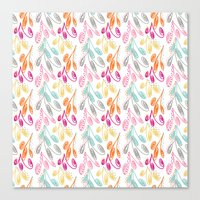 Smaller Colorful Swirls Canvas Print